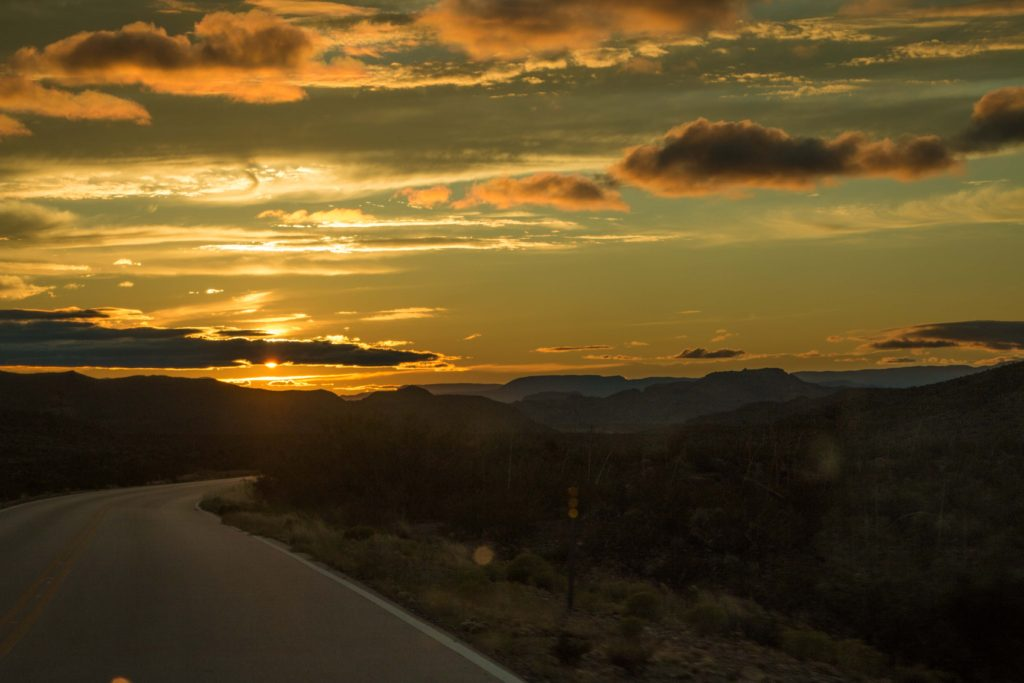 sunset at big bend national park