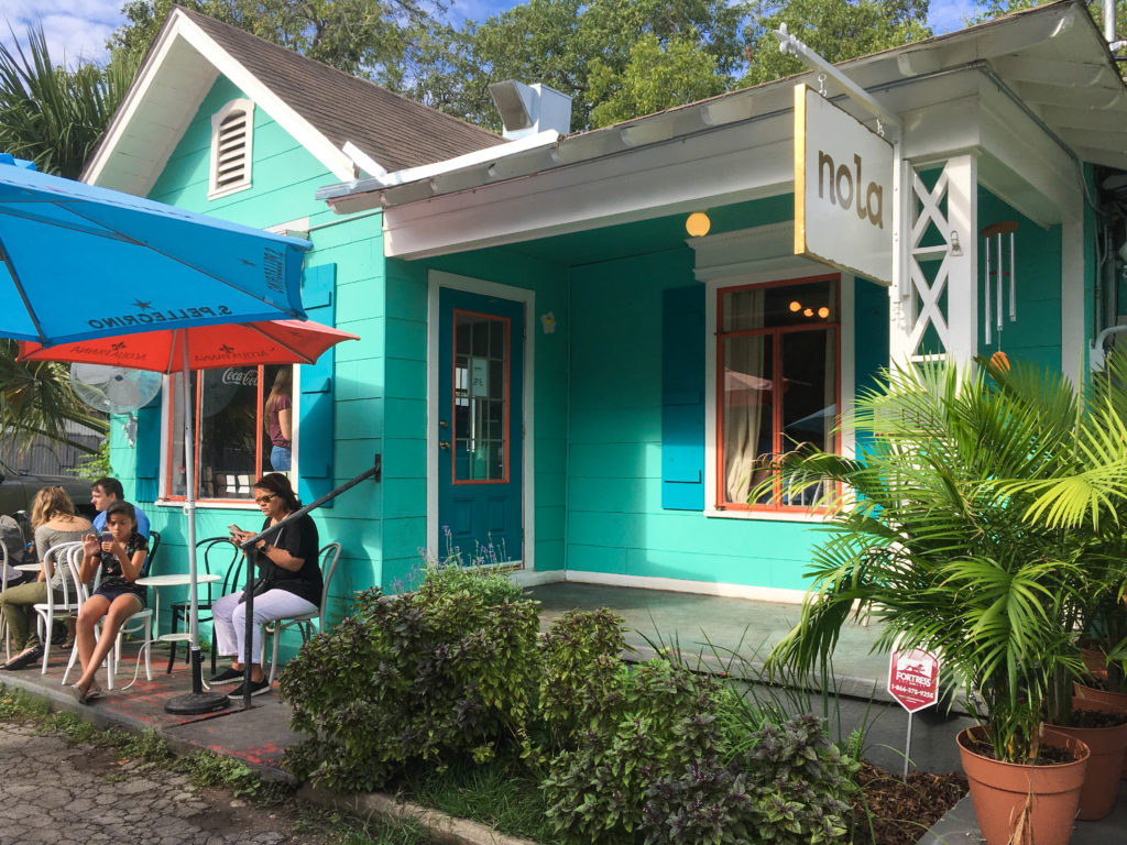 the outside of NOLA brunch and Beignets in San Antonio
