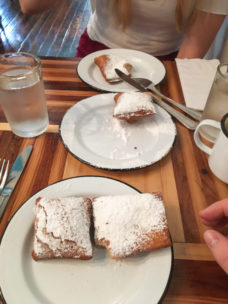 beignets at NOLA brunch and Beignets in San Antonio