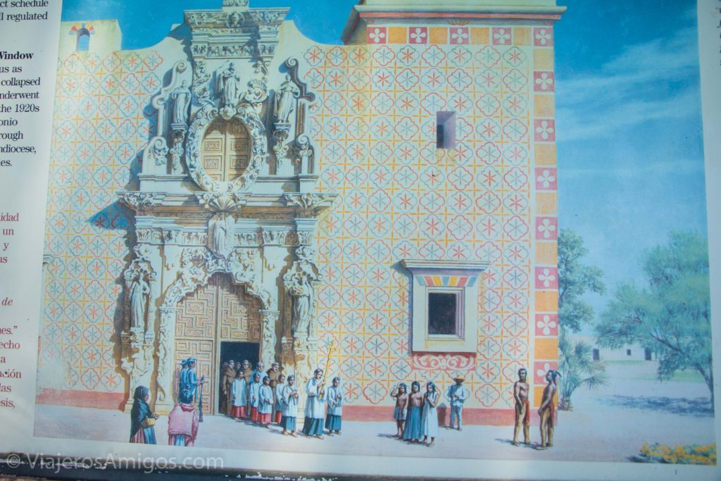 the original facade of Mission San Jose in San Antonio