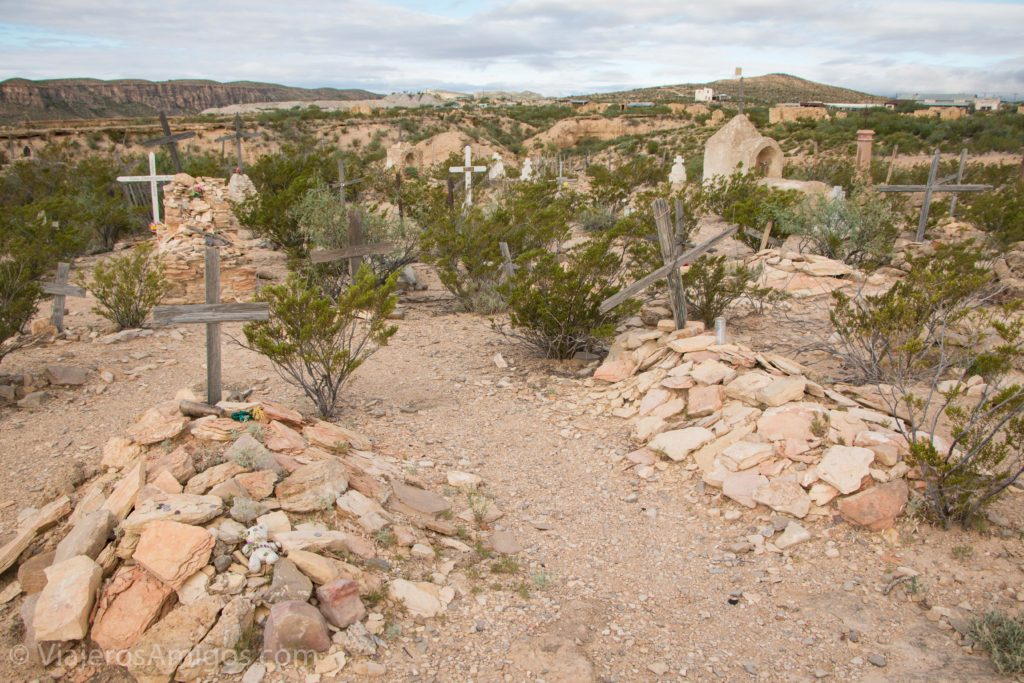 graves at a cemetery in terlingua ghost town