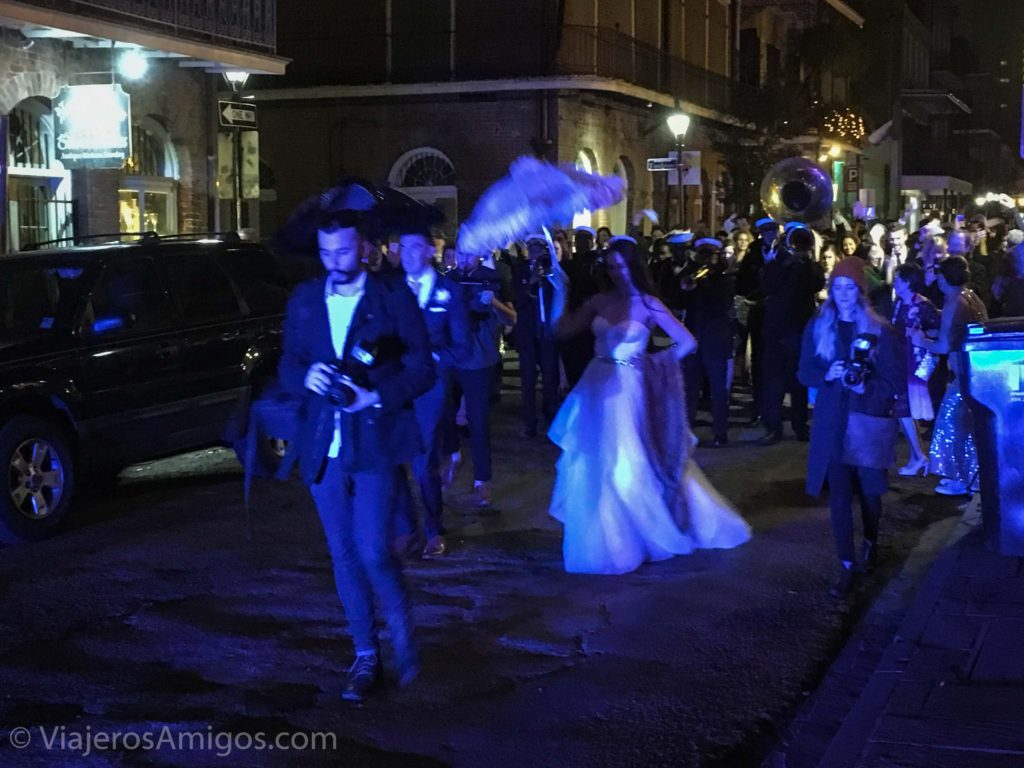 wedding second line royal street french quarter new orleans