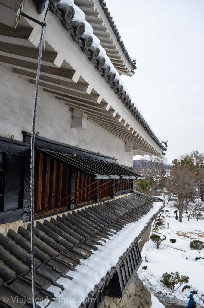 looking out the window of matsumoto castle