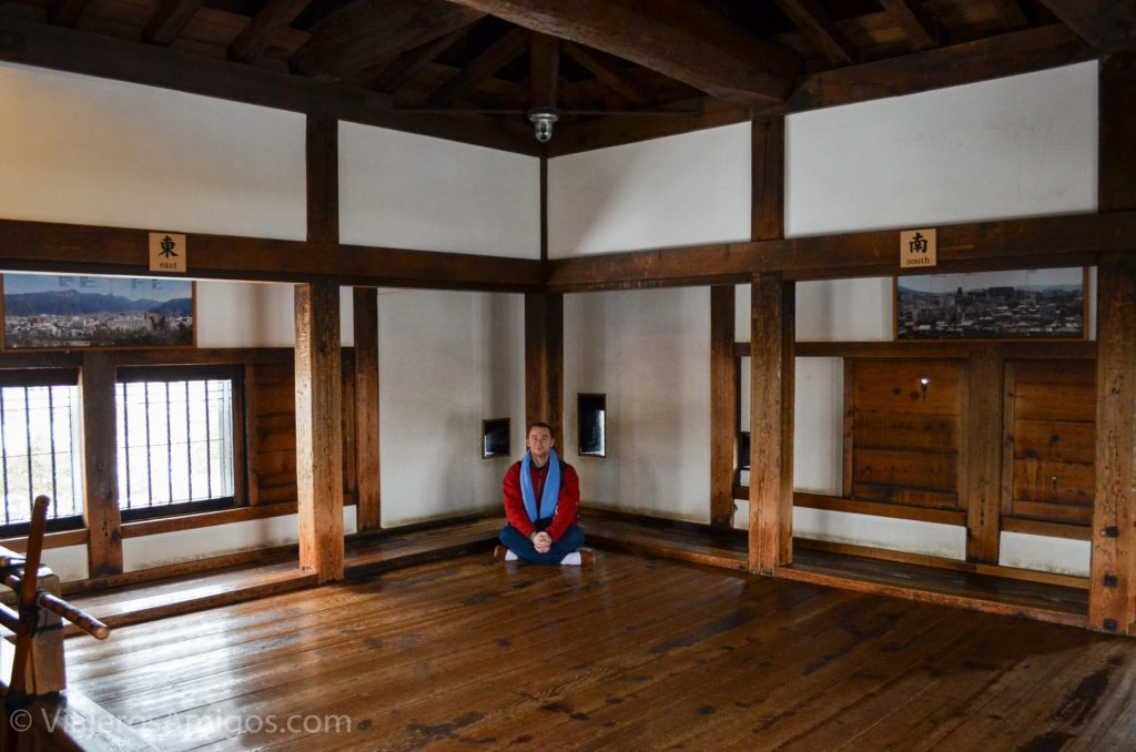 the top floor of matsumoto castle